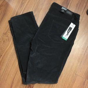 Pants - Dark grey Skinny Corduroy Pants